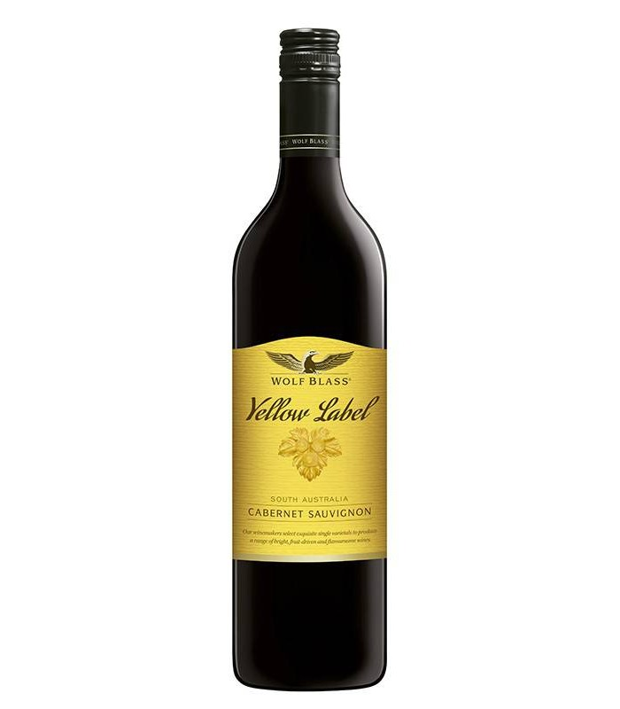 Wolf Blass Yellow Label Cabernet Sauvignon, tinto del Sur de Australia