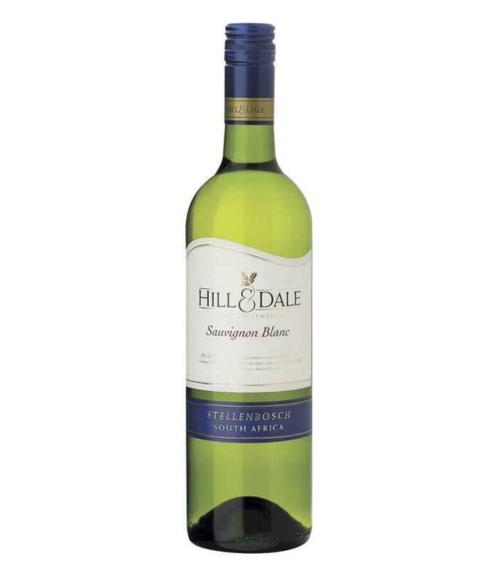 Hill & Dale Sauvignon Blanc, vino blanco sudafricano