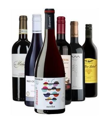 Pack Vinos Internacionales de distintas variedades de uvas tintas