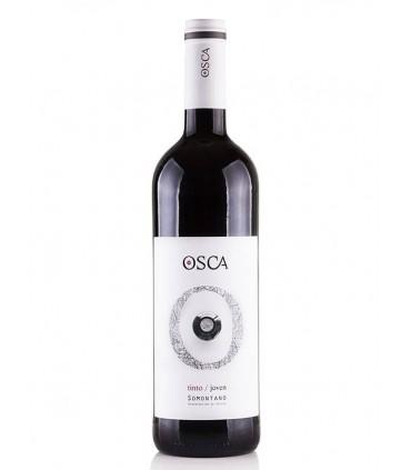 Vino Español Tinto Osca, con denominación de origen Somontano, Aragón.