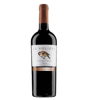 La Voliera, vino tinto italiano de Puglia elaborado con uva primitivo